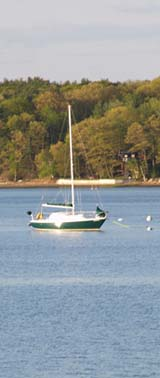 Boat on Great Bay (photo by Webmaster)