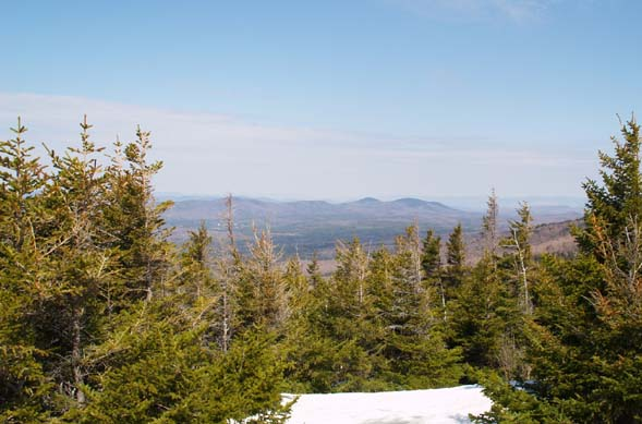 Views from the summit of Bald Peak (photo by Webmaster)