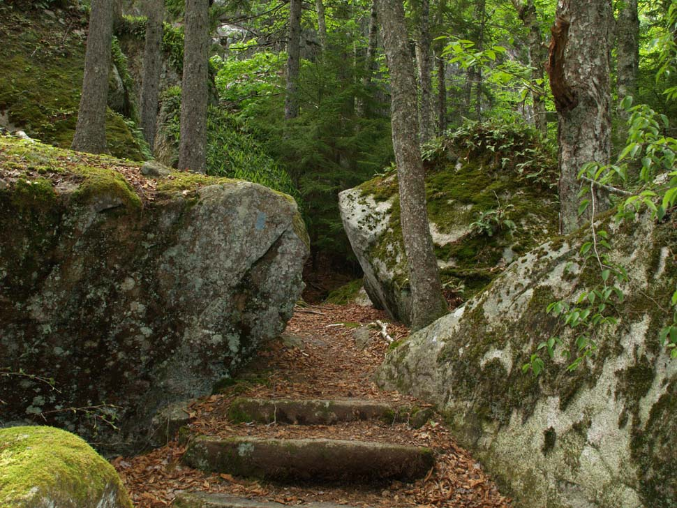 Boulders along Valley Trail (photo by Webmaster)
