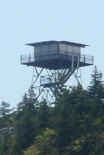 Beech Mountan fire tower, taken from Beech Cliff (photo by Chip Lary)