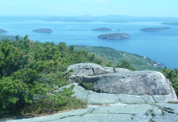 Porcupine Islands as seen from the summit of Champlain Mtn. (photo by Chip Lary)