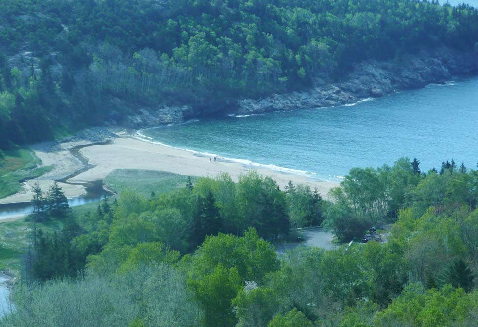 Sand Beach as seen from Beehive Trail (photo by Chip Lary)