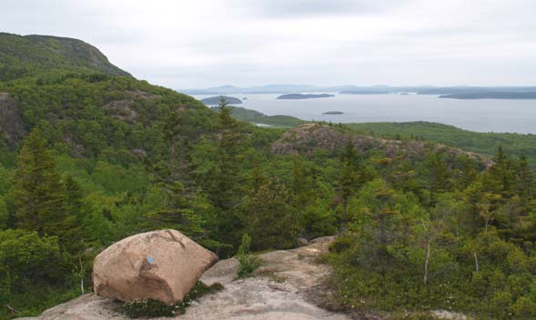 View of Frenchman Bay from The Beehive (photo by Webmaster)