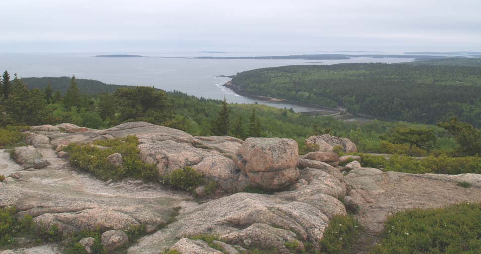View of Otter Cove and beyond, from Gorham Mtn. (photo by Webmaster)