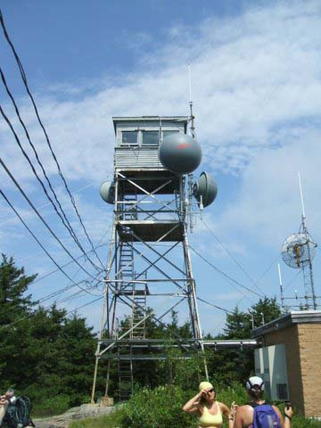 Fire tower on Belknap Mountain (photo by Charlie Raeburn)