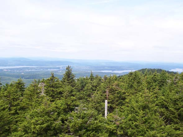 View from Belknap Mountain's fire tower (photo by Mary)