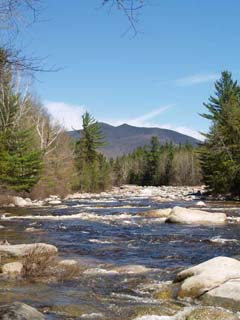 The Bonds over East Branch of Pemigewasset River (photo by Webmaster)