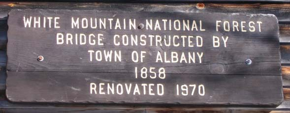 Albany covered bridge sign (photo by Mark Malnati)