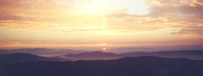 Sunrise from the summit of Mount Cardigan