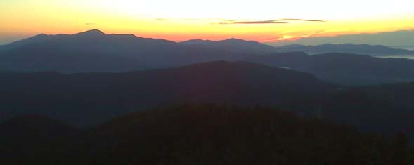 Sunrise views from the top of Mount Carrigain (photo by Bill Mahony)