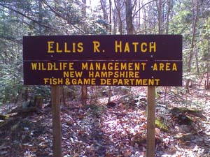 Ellis R. Hatch Wildlife Management Area sign (photo by Bill Mahony)