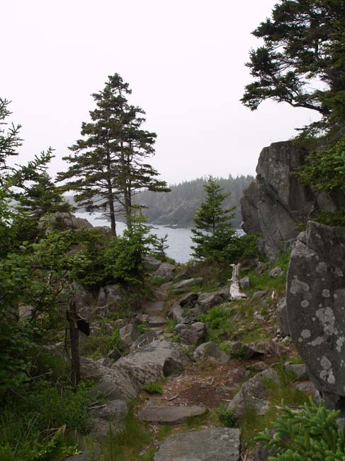 Promontory near the northern end of Coastal Trail (photo by Webmaster)
