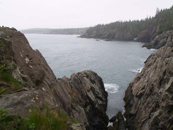 Cliffs and ocean along Coastal Trail (photo by Webmaster)
