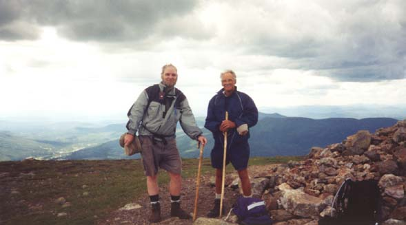 On the summit of Mount Eisenhower (photo by Webmaster)