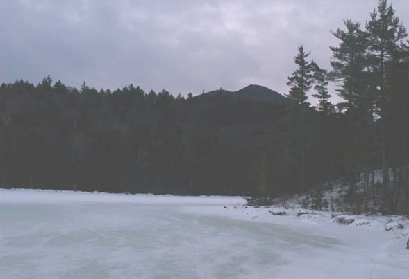 Falls Pond and Bear Mountain (photo by Webmaster)