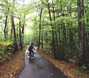 Bikes Of New England Bike path in Franconia Notch