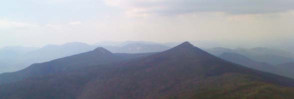 View of Mounts Liberty and Flume, taken from Haystack Mountain (photo by Bill Mahony)