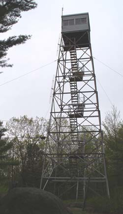 Fire tower on Mount Grace's summit (photo by Webmaster)