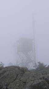 Tower in the fog on Killington Peak (photo by Mark Malnati)