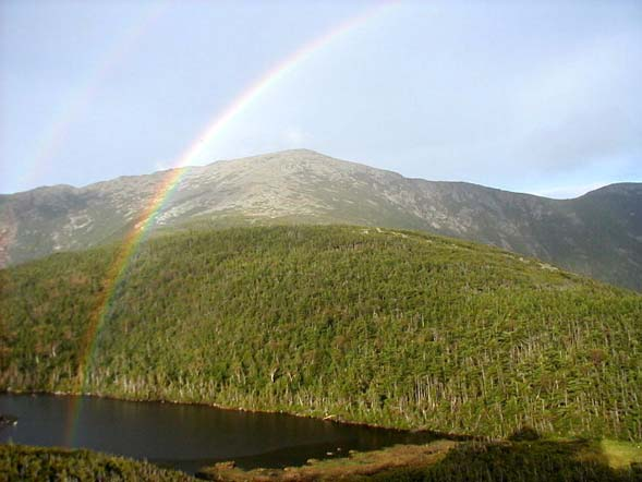 Double rainbow at Greenleaf Hut (photo by James Horner)