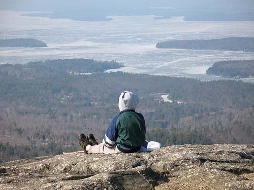 Views of Lake Winnipesaukee from the summit of Mt. Major (photo by Tom Hudson)