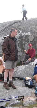 Mark on Monadnock's summit (photo by Dennis Marchand)