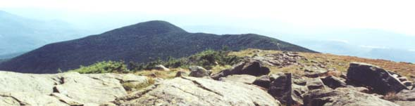 View from Mt. Moosilauke summit to its South Peak (photo by Webmaster)