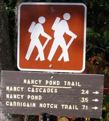 Trail sign (photo by Mark Malnati)
