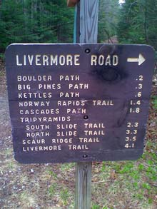 Trail sign (photo by Bill Mahony)