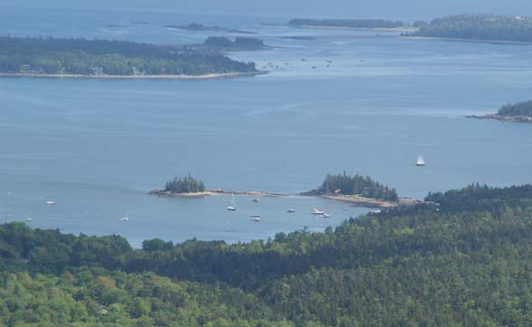 View from Pemetic Mtn. at Acadia National Park (photo by Webmaster)