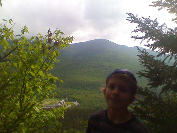 Joshua at the view from Crawford Cliff (photo by Bill Mahony)