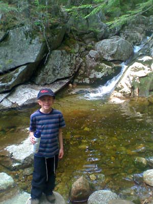Joshua at Gibbs Brook (photo by Bill Mahony)