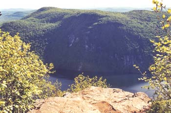 Lake Willoughby and Mount Hor from Pisgah ledges (photo by Webmaster)