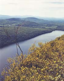 Lake Willoughby from Pisgah ledges (photo by Webmaster)