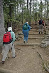 Ascending the Old Bridle Path in early May (photo by Ben Kimball for the NH Natural Heritage Bureau)