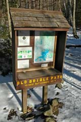 Trailhead for Old Bridle Path up West Rattlesnake (photo by Ben Kimball for the NH Natural Heritage Bureau)