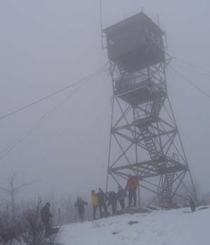 Fire tower on Red Hill (photo by Mark Malnati)