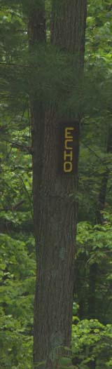 Trail sign for Echo Pond Trail (photo by Webmaster)