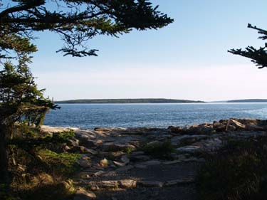 View of the ocean and some islands from the point (photo by Webmaster)