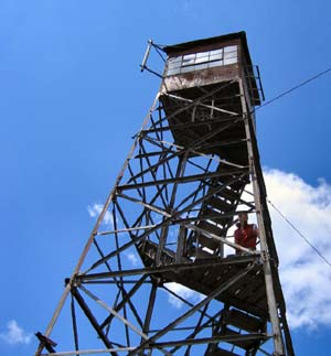 Fire tower on Smart's Mountain (photo by Mark Malnati)