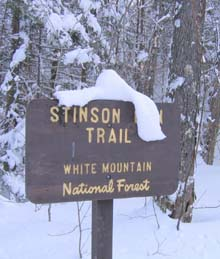 Stinston Mountain Trail sign (photo by Mark Malnati)