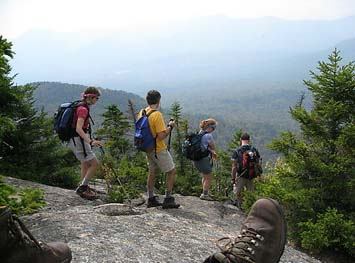 On the summit of Mt. Tremont (photo by Sue Murphy)