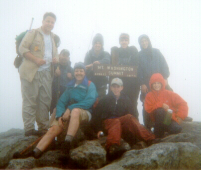 On the summit of Mount Washington