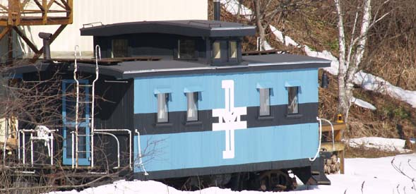 Spring photo of the trailside train (photo by Webmaster)