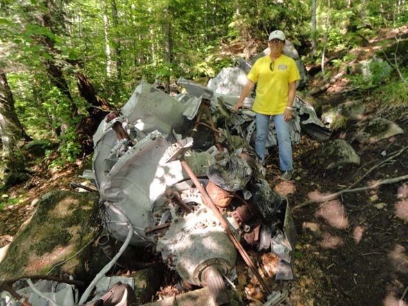 At the B18 crash site (photo by Jim Gonia)