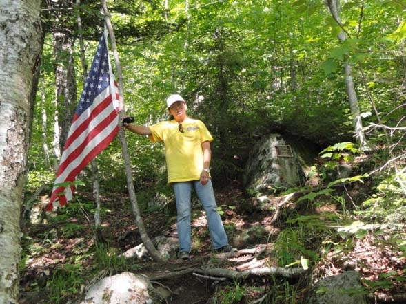 Flag at the B18 crash site (photo by Jim Gonia)