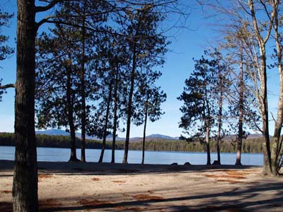 Beach and White Lake (photo by Webmaster)