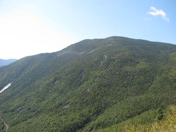 Mount Willey as seen from the summit ledges of Mount Willard (photo by Karl Searl)