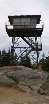 Fire tower on the summit of Beech Mtn. (photo by Webmaster)