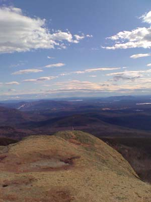 View east from the summit of Mt. Chocorua (photo by Bill Mahony)
